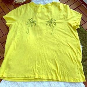 Madewell Shirt short sleeve Palm tree Yellow XL